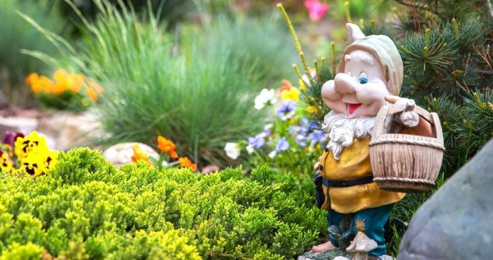 garden gnome whimsical idea